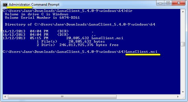 Windows SafeNet HSM Client Installation